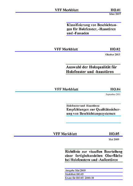 """Abverkauf der Druckexemplare: VFF-Merkblätter """"Holz"""" zum Sonderpreis"""