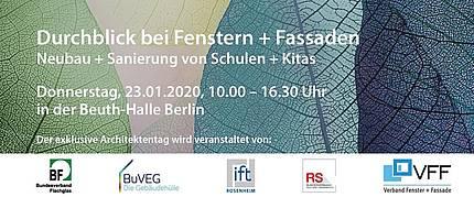 Architektentag am 23.01.2020 in Berlin: Durchblick bei Fenstern + Fassaden